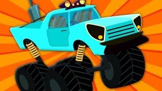 wheels on the monster truck stunts | nursery rhymes | vehicle song | children rhymes | kids tv