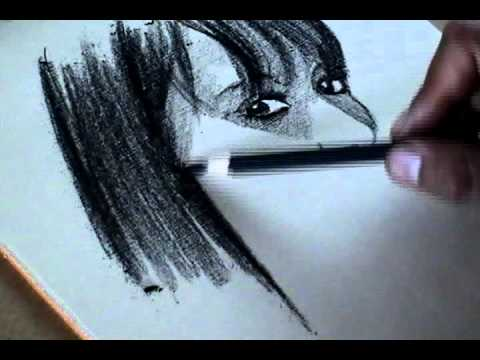 Artistic Drawing Exercises- Portrait- Charcoal pencil