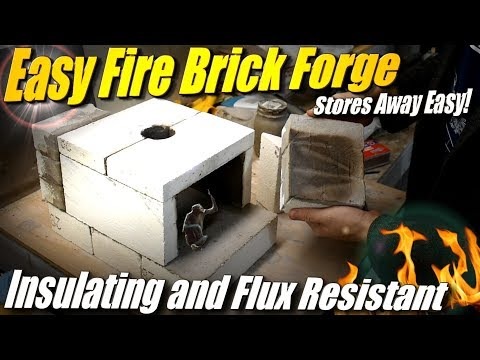 Build A Forge From Fire Brick Part 1: Easy, Flux Resistant Propane Forge For Knife Making And Stuff