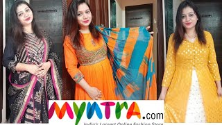 Myntra Kurti Set Party Wear Try On Haul  For Wedding Season  Pink's House