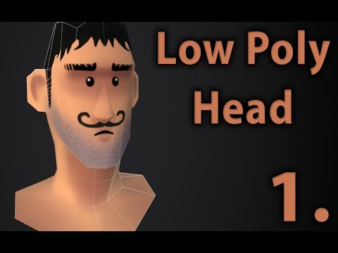 Low Poly Cartoon Head | Part 1. | 3D modeling tutorial | 3ds max | unwrap uvw texturing