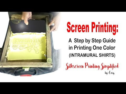 Screen Printing: A Step By Step Guide In Printing...