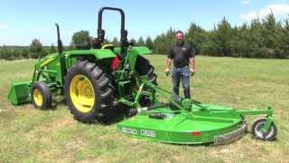 Rotary Cutter Connect to a John Deere 5 Series Tractor