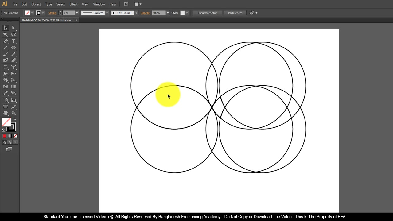 Ai Class 15 How to use Shape Builder and Live Paint Bucket Tool
