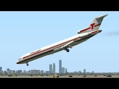Boeing 727  Emergency Landing Nose Dive | X-Plane 11
