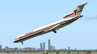 Trump Boeing 727 aterrizaje de emergencia con buceo de nariz | X-Plane 11