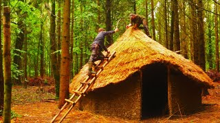12 Day Woodland Project with TA OUTDOORS - Bushcraft - Building a Celtic Roundhouse START TO FINISH