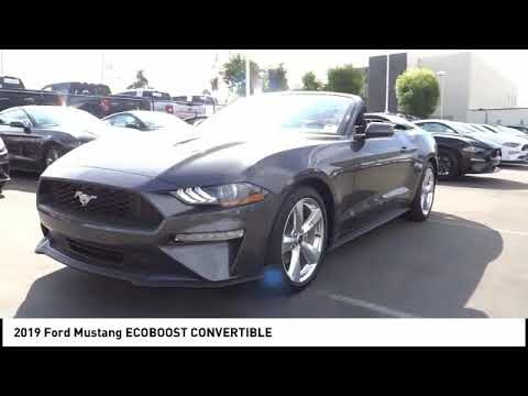 2019 Ford Mustang ORANGE TUSTIN PLACENTIA FULLERTON ORANGE COUNTY 00S90040