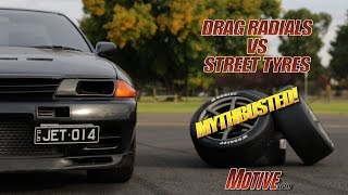 MYTHBUSTED Drag Radial vs Street Tyre - Motive Garage 650whp R32 GT-R