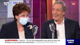 Roselyne Bachelot face à Jean-Jacques Bourdin en direct