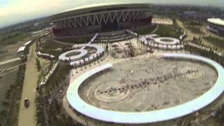 Flying over the Philippine Arena in Bocaue, Bulacan, Philippines