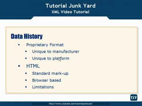 XML Tutorial   4 Data History