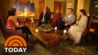 "Sheinelle Jones Talks To The Cast ""Bad Times At The El Royale"" 