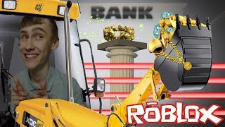 WITH A EXCAVATOR ENTER THE BANK! (Roblox Obby)