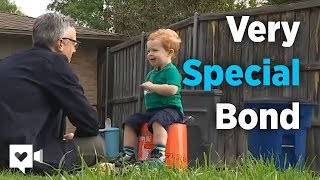 2-year-old and garbage man's special bond is priceless thumbnail