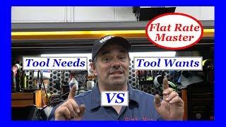 Tool Needs Vs Tool Wants
