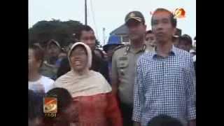 Curhat Warga Korban Banjir dengan JOKOWI Di Penjaringan, Jakarta Utara