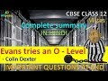 Evans tries an O level | Vistas | Colin Dexter | Class 12th | In Hindi