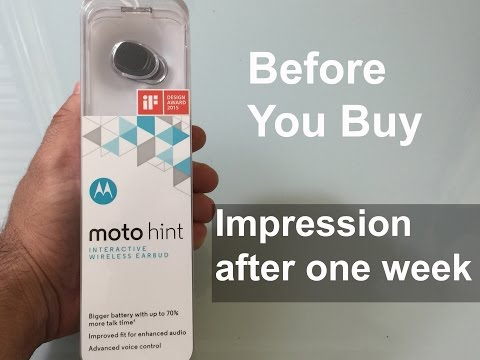 New Moto Hint 2015:  Things to know before you buy