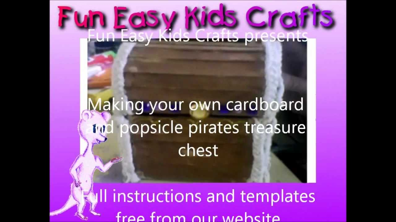 how to make a treasure box out of cardboard