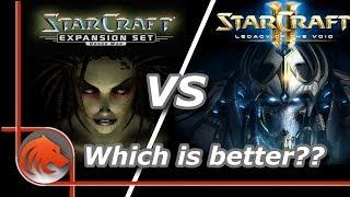 StarCraft 1 vs StarCraft 2