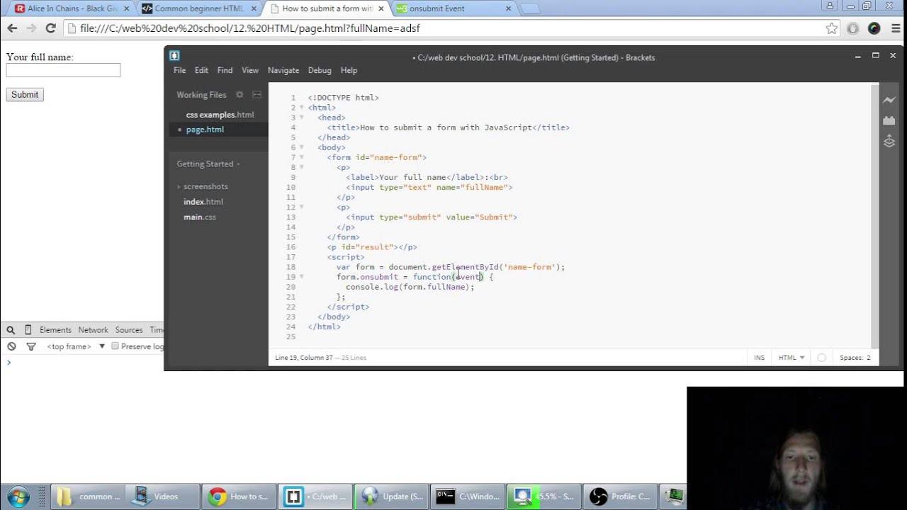 javascript form submit