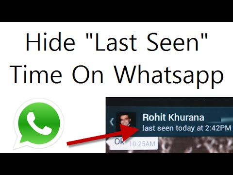How To Hide Last Seen Time On Whatsapp: Video Tutorial