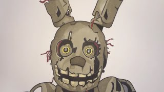 How To Draw Springtrap From Five Nights At Freddy's 3 Step By Step(Hello there artists! Today I bring you another FNAF tutorial. This time I'll show you how to draw Springtrap from Five Nights At Freddy's 3 step by step!, 2015-04-21T19:30:22.000Z)
