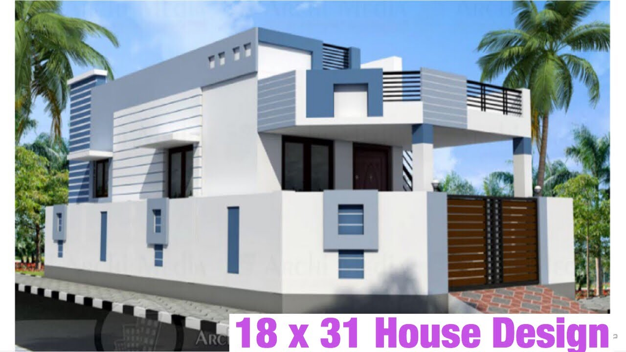 18 x 31 3 6m x 9m house design house plan map 1 bhk with car parking 60 gaj