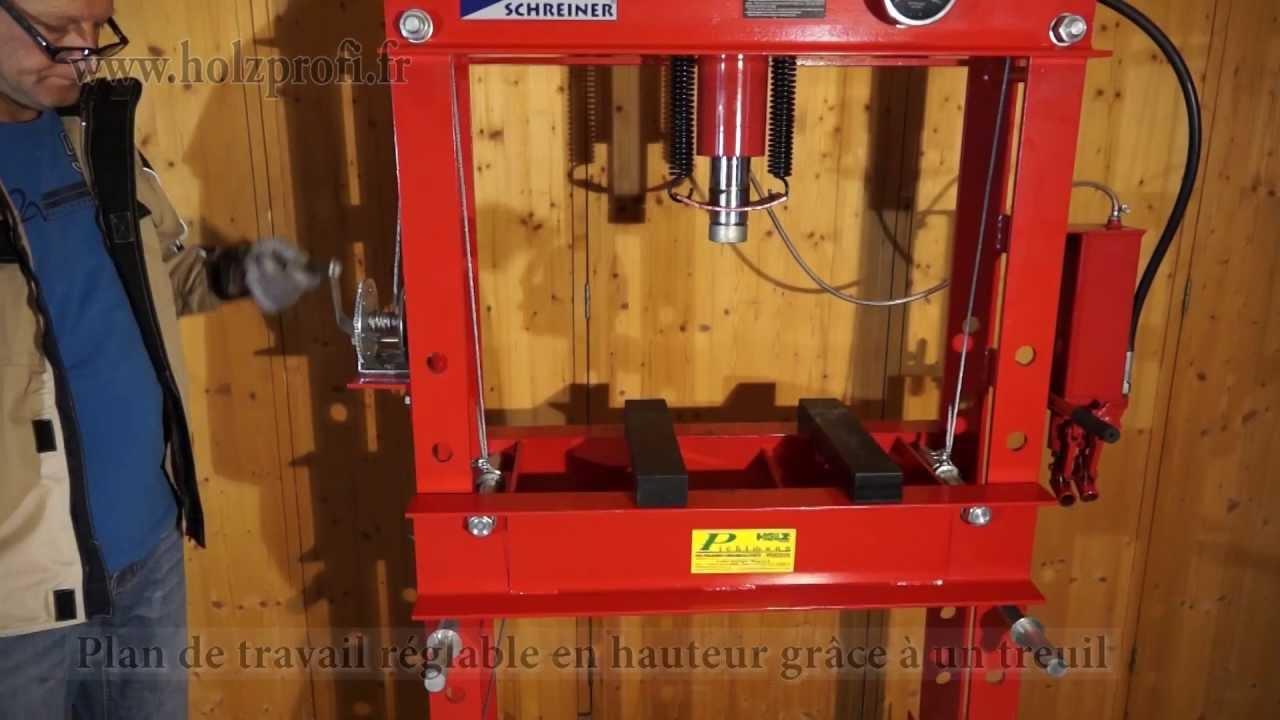 puissante presse hydraulique d 39 atelier hyc45 metalprofi pour presser plier et aligner youtube