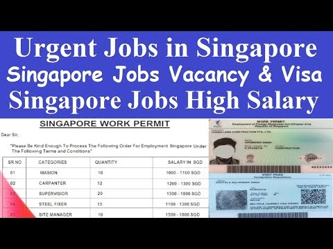 Singapore New Jobs Vacancy l Jobs in Singapore l Urgent Jobs in Singapore l Singapore Recruitment