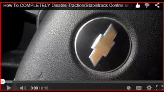 How To COMPLETELY Disable Traction/Stabilitrack Control on GM/Chevy