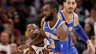Derrick Rose Returns! Knicks Upset Cavs! Tim Hardaway Jr 34 Pts! Porzingis 32 Pts 2017-18 Season