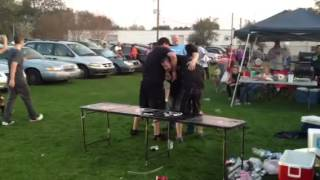 Zetti Getting Suplexed Through A Table At Monster Jam