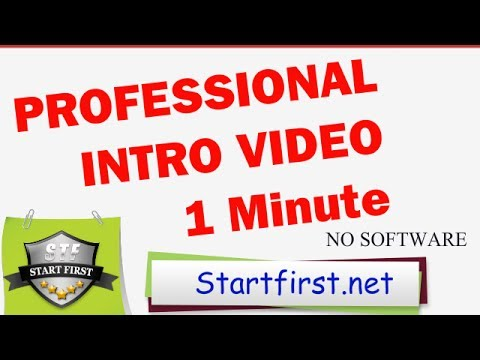 How to make a Professional Intro Video in less than 1 Minute - INTRO VIDEO TUTORIAL