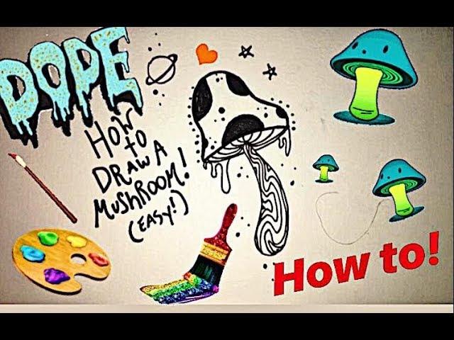 How To Draw A Mushroom Easy Youtube