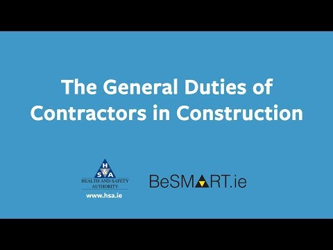 General Duties of Contractors in Construction