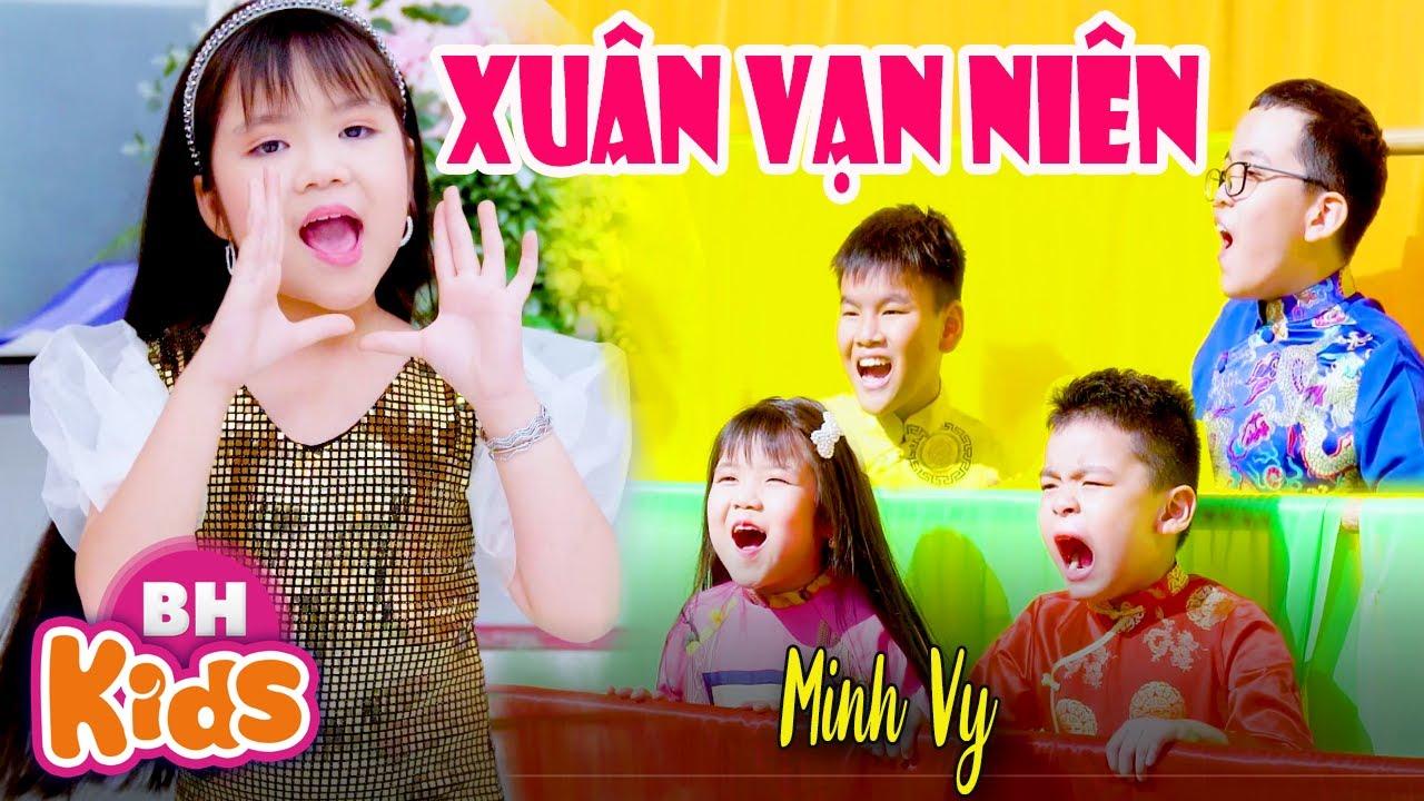 XUÂN VẠN NIÊN ♫ MINH VY ♫ Nhạc XuânThiếu Nhi Sôi Động Cho Bé 2021 [MV 4K]