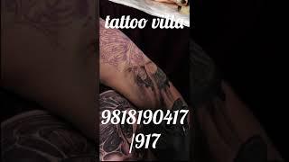 Tattoo work in slo-mo