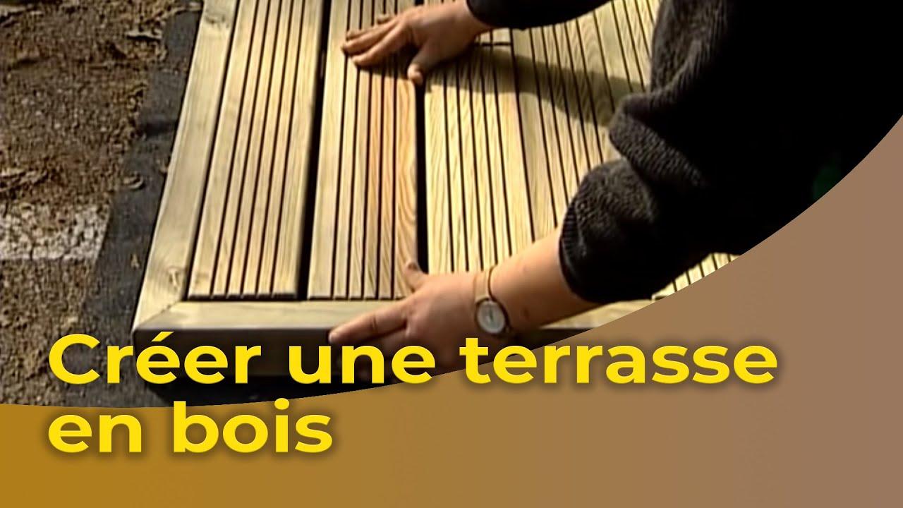 Cr er une terrasse en bois et d 39 une pergola youtube - Comment realiser une terrasse en bois ...