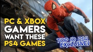 TOP 10 PS4 EXCLUSIVE GAMES OF ALL TIME!! 😎😎