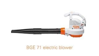 STIHL BGE 71 Electric Leaf Blower Features & Benefits | STIHL GB