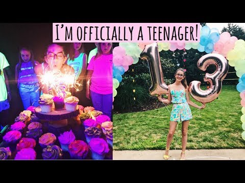 MY 13TH BIRTHDAY PARTY! | Irelynn Martinez
