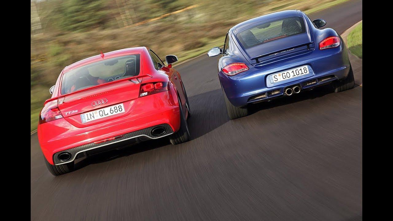 Porsche pictures of porsches : Audi TT RS gegen Porsche Cayman S - Audi jagt Porsches Krokodil ...