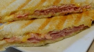 Ham and Cheese Panini - CookingAndCrafting