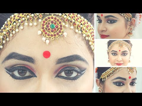 Double Winged Eye Makeup Tutorial For Classical Dancers |with English Subtitles |Antara Bhadra