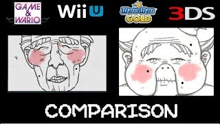 Game and Wario vs WarioWare Gold Microgame Comparison (+Gamer & Fruit)