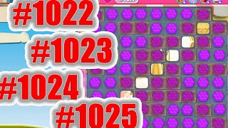 Candy Crush Saga Level 1022, 1023, 1024 And 1025 NEW  | Complete!