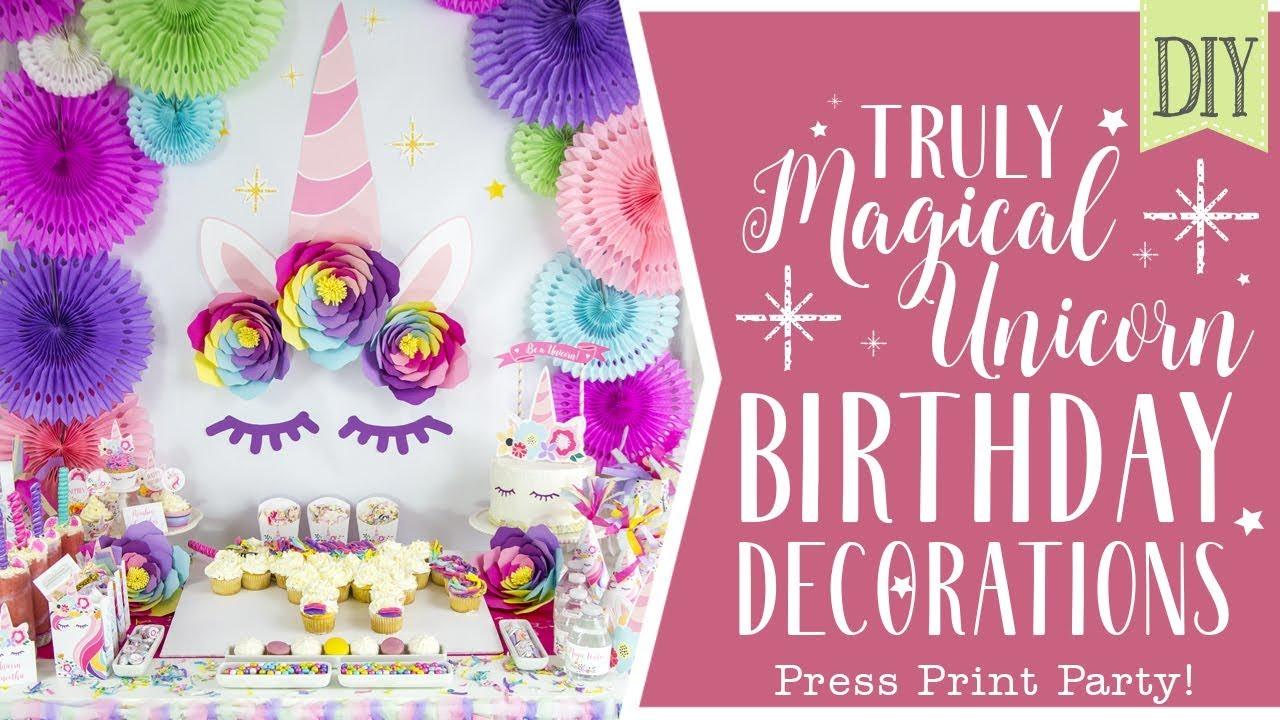 DIY Magical Unicorn Party Decorations - Unicorn party ideas