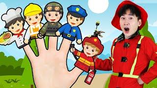 어린이 직업 손가락동요 핑거송 같이 불러요 Finger Family jobs kids Song Funny kids jobs story 슈슈토이 Shushu ToysReview